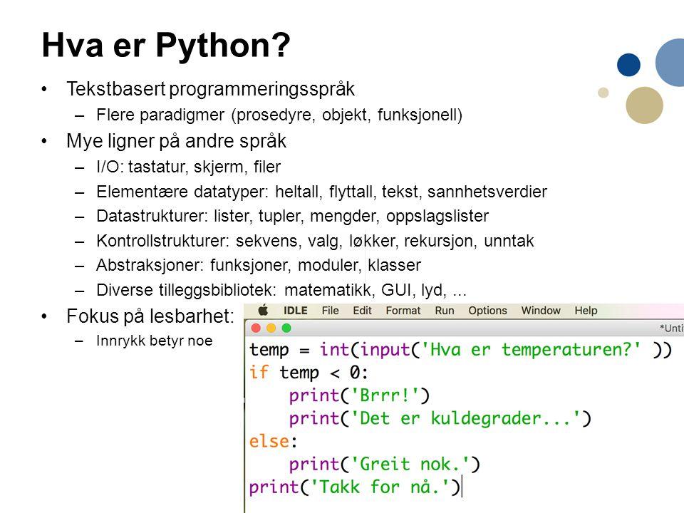 4 Hva er Python.