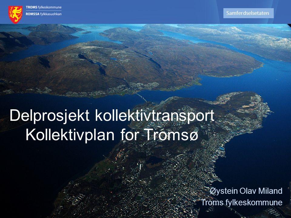 Mål fra KVU: Samfunns- og effektmål fra KVU – Vegvalg Tromsø (2010) Samfunnsmål Fremtidig transportsystem skal i 2030 håndtere transportetterspørselen på en mer miljøvennlig måte.