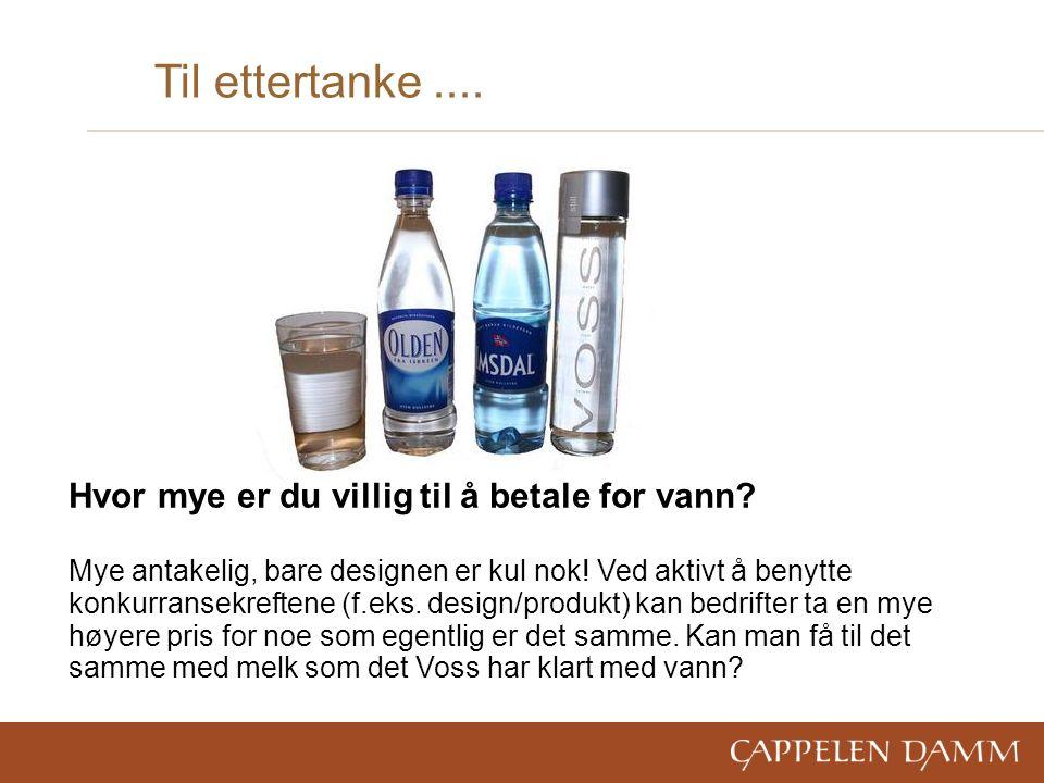 Til ettertanke.... Hvor mye er du villig til å betale for vann.