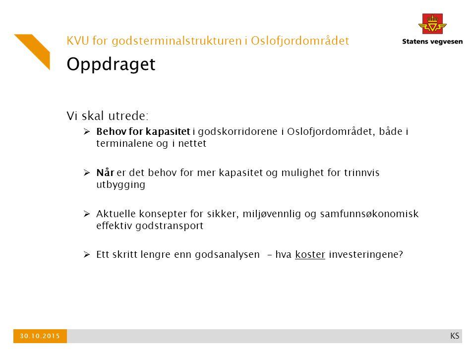 Samfunnsmålet En effektiv, kapasitetssterk og bærekraftig godsterminal- struktur i Oslofjordområdet.
