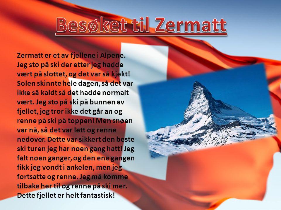Zermatt er et av fjellene i Alpene.