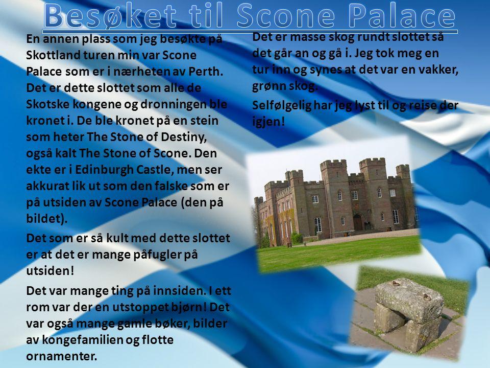 En annen plass som jeg besøkte på Skottland turen min var Scone Palace som er i nærheten av Perth.