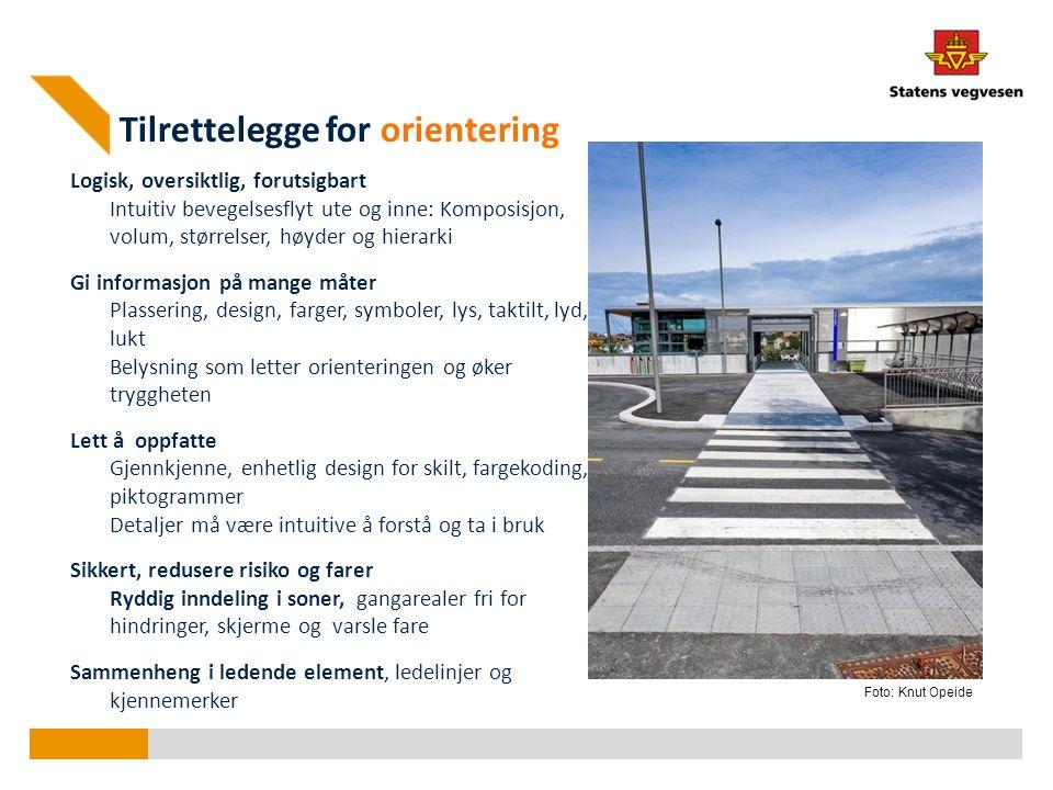 Detalj planverktøy Orientering, veifinning Hverdagens byrom og forbindelser Plassering av ulike funksjoner: gangsoner adkomstområder oppholdssoner møbleringssoner parkering