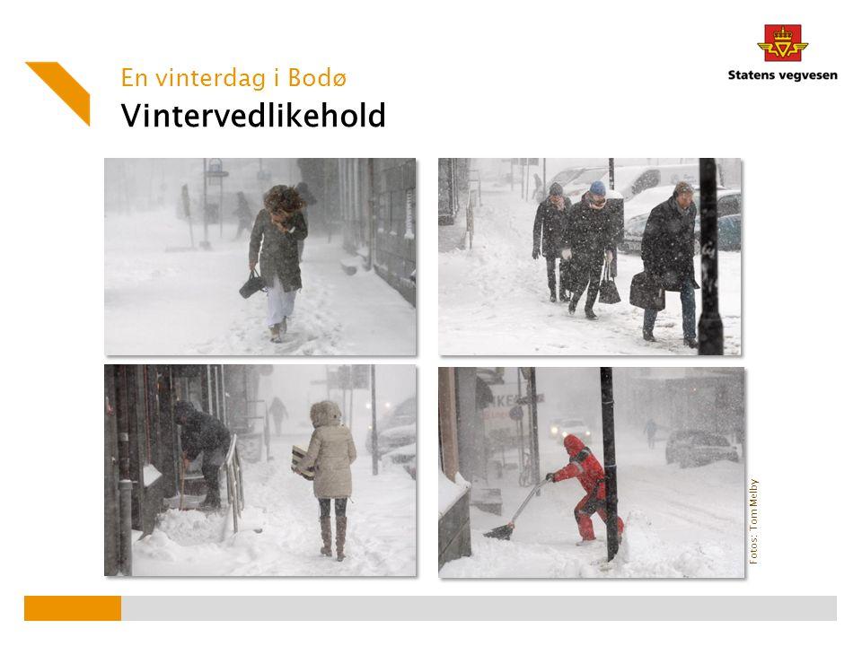 Fotos: Tom Melby Vintervedlikehold En vinterdag i Bodø