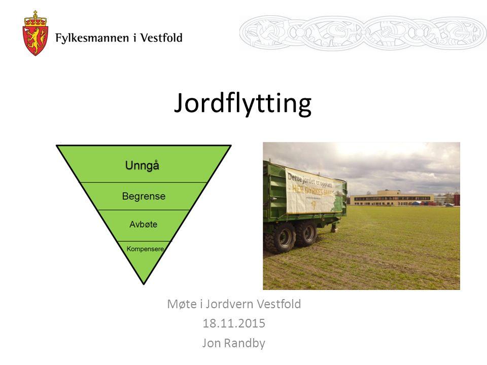 Jordflytting Møte i Jordvern Vestfold 18.11.2015 Jon Randby