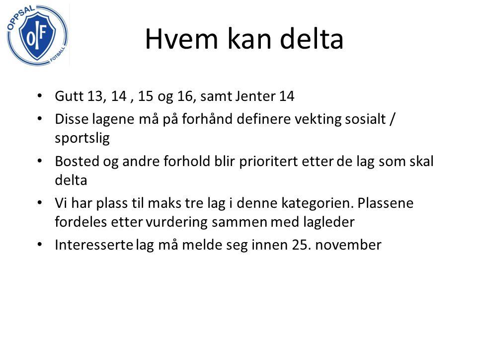Avreise med buss, søndag 14/7 kl.13:00 Lagene fordeles på to hotell, og skoler.