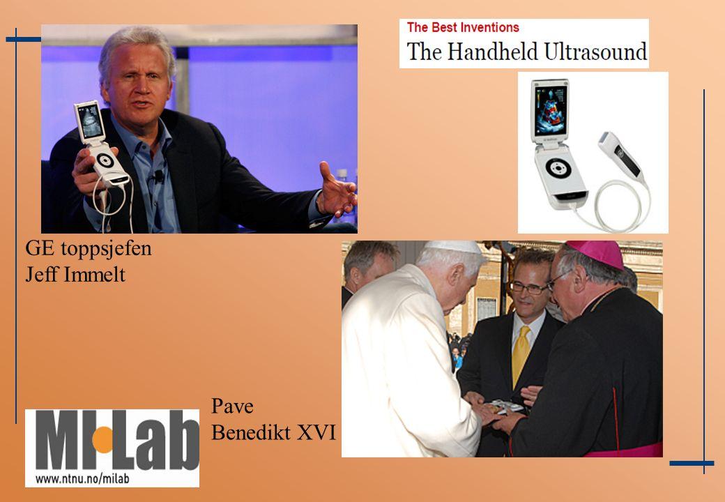 GE toppsjefen Jeff Immelt Pave Benedikt XVI