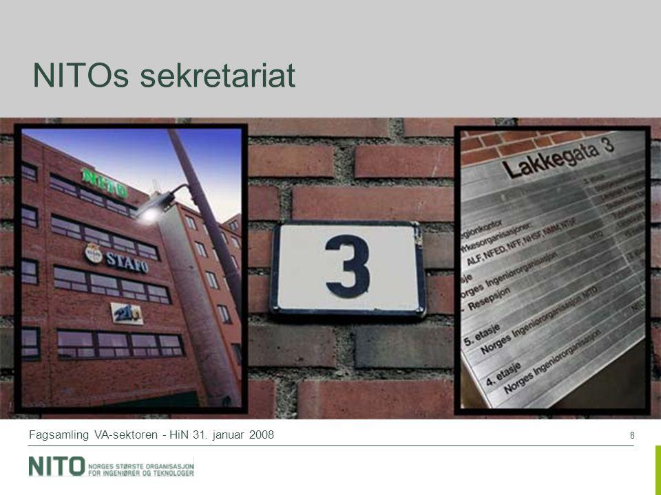 8 Fagsamling VA-sektoren - HiN 31. januar 2008 NITOs sekretariat