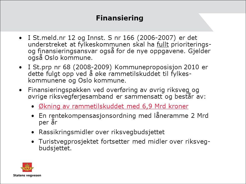 Finansiering I St.meld.nr 12 og Innst.