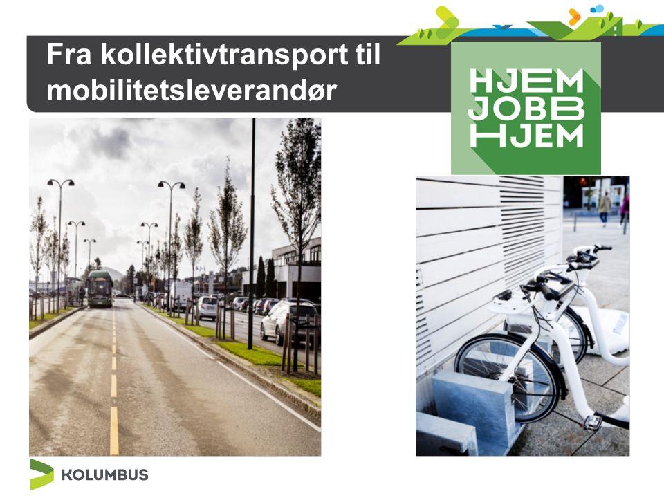 Fra kollektivtransport til mobilitetsleverandør