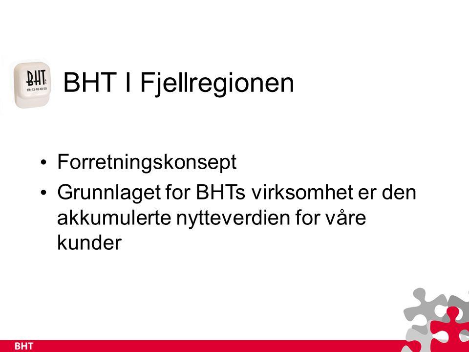 BHT I Fjellregionen Hovedmålsetting Å være samabeidspartner i utvikling av arbeidsplasser, holdninger og styringssystemer som vil forebygge sykdom og skade