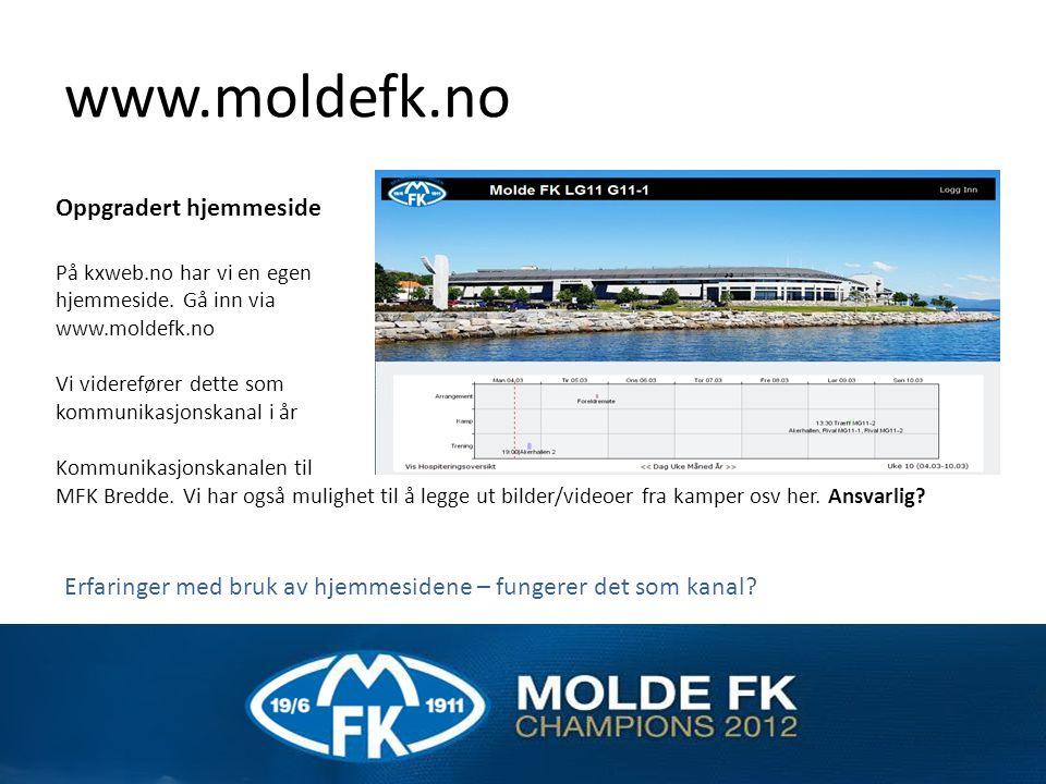 www.moldefk.no Oppgradert hjemmeside På kxweb.no har vi en egen hjemmeside.