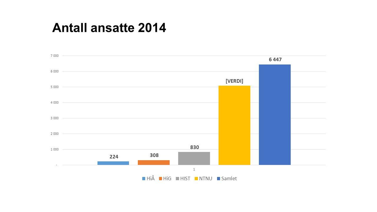 Antall ansatte 2014