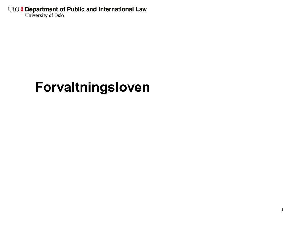 Forvaltningsloven 1