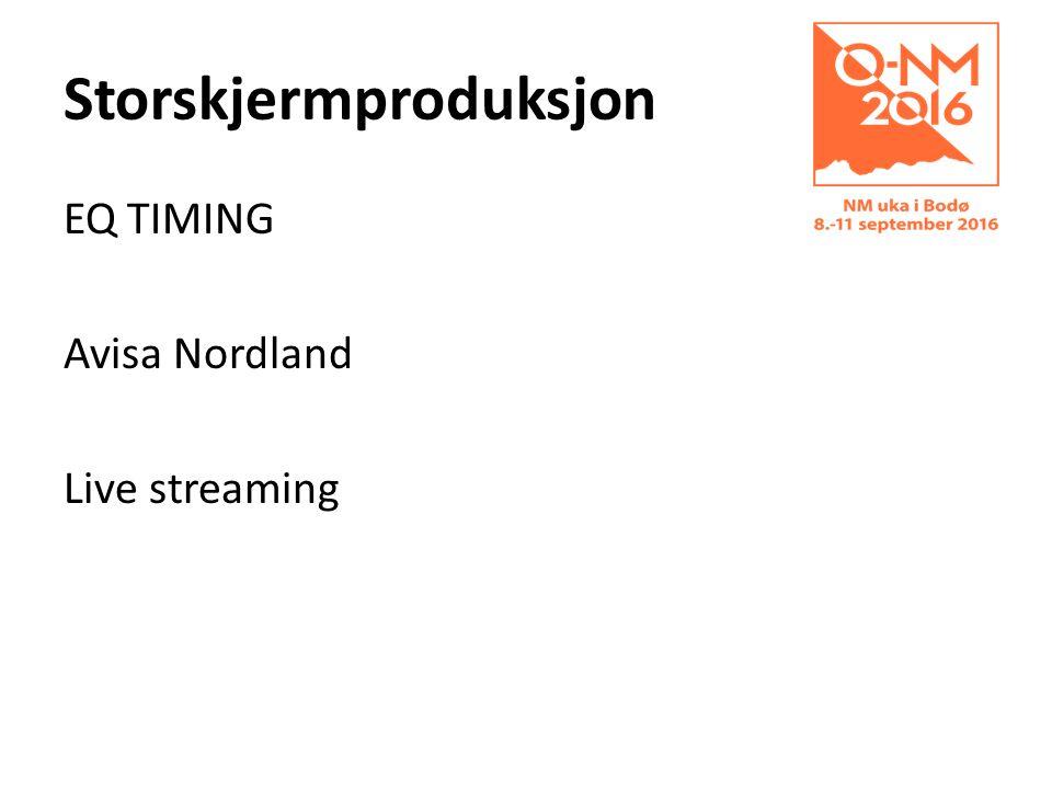 Storskjermproduksjon EQ TIMING Avisa Nordland Live streaming
