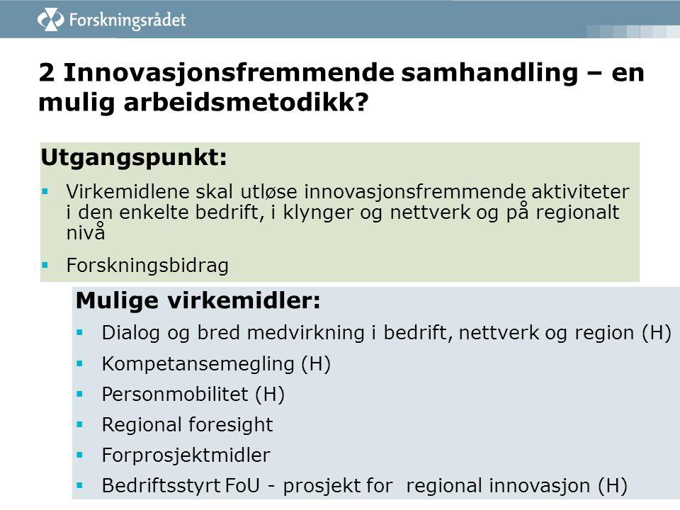 2 Innovasjonsfremmende samhandling – en mulig arbeidsmetodikk.