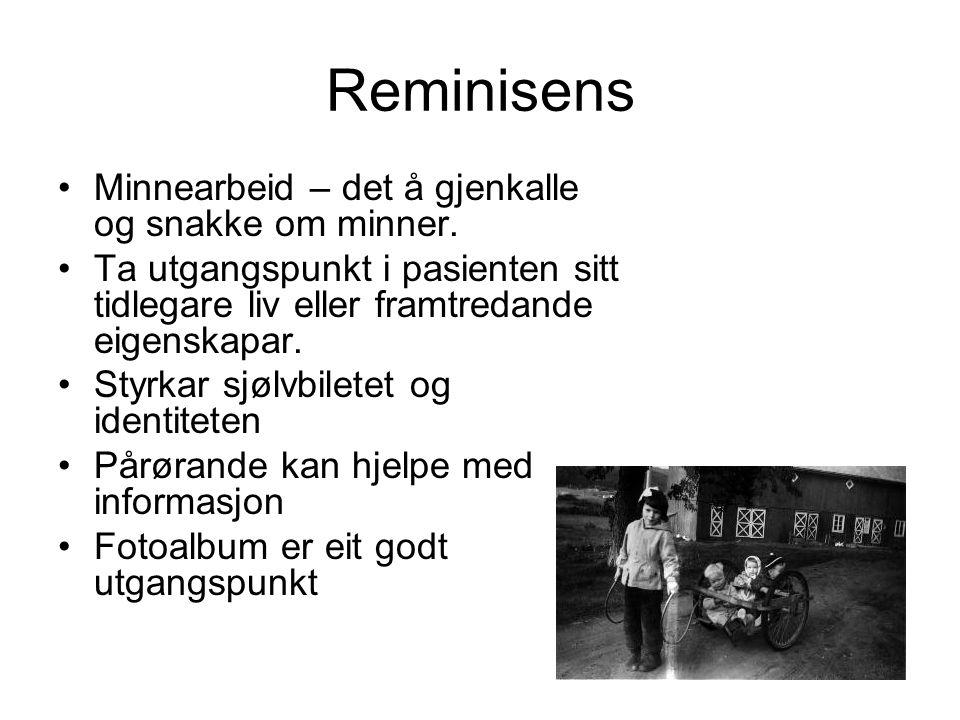 Reminisens Minnearbeid – det å gjenkalle og snakke om minner.