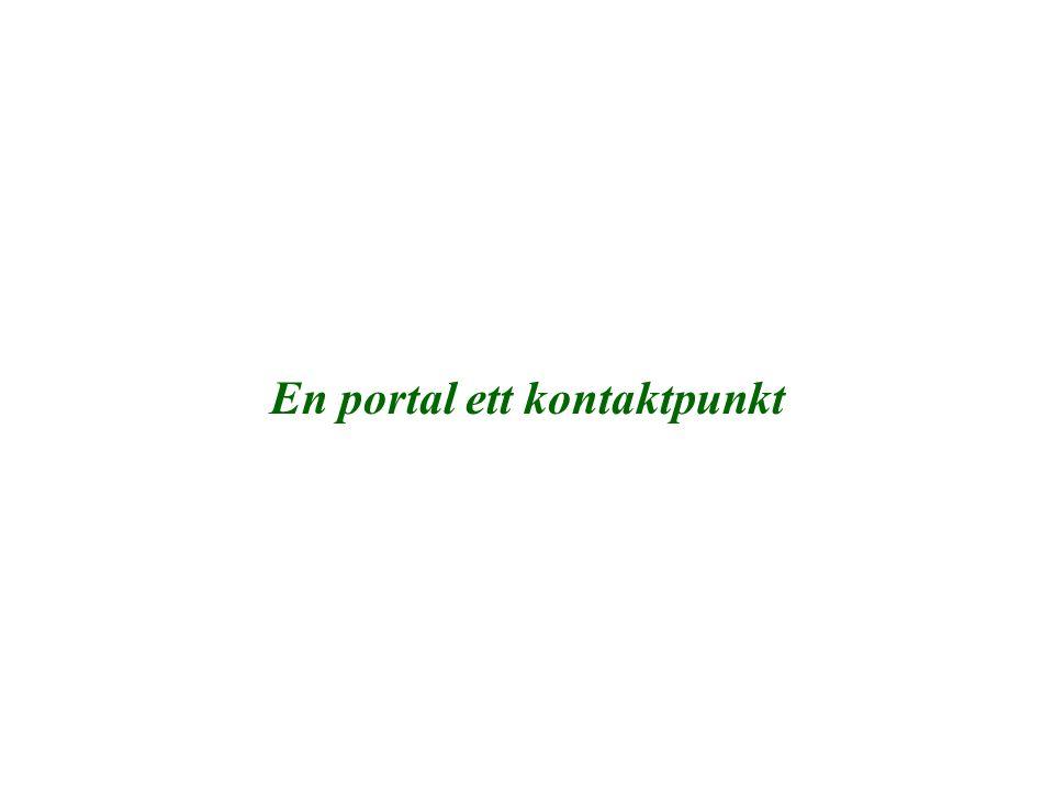 En portal ett kontaktpunkt