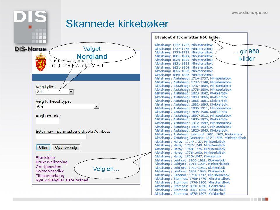 Valget Nordland.. gir 960 kilder Velg en…