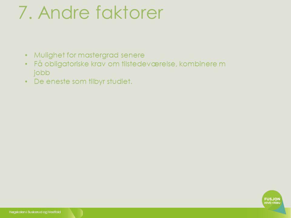 Høgskolen i Buskerud og Vestfold 7.