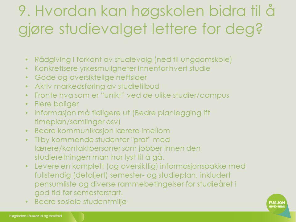 Høgskolen i Buskerud og Vestfold 9.