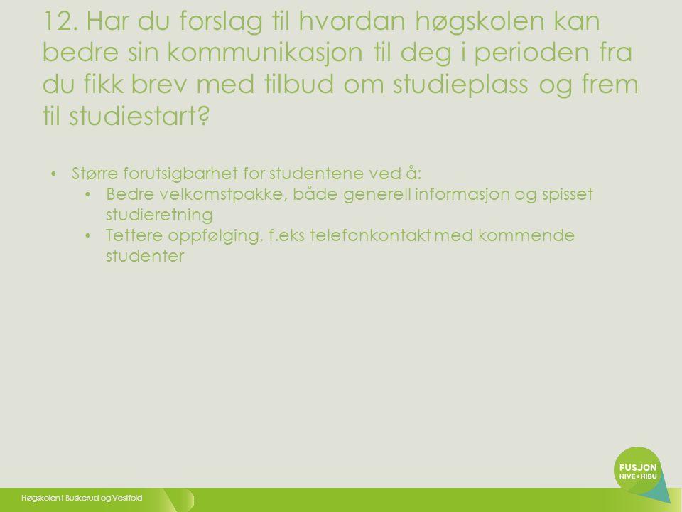 Høgskolen i Buskerud og Vestfold 12.