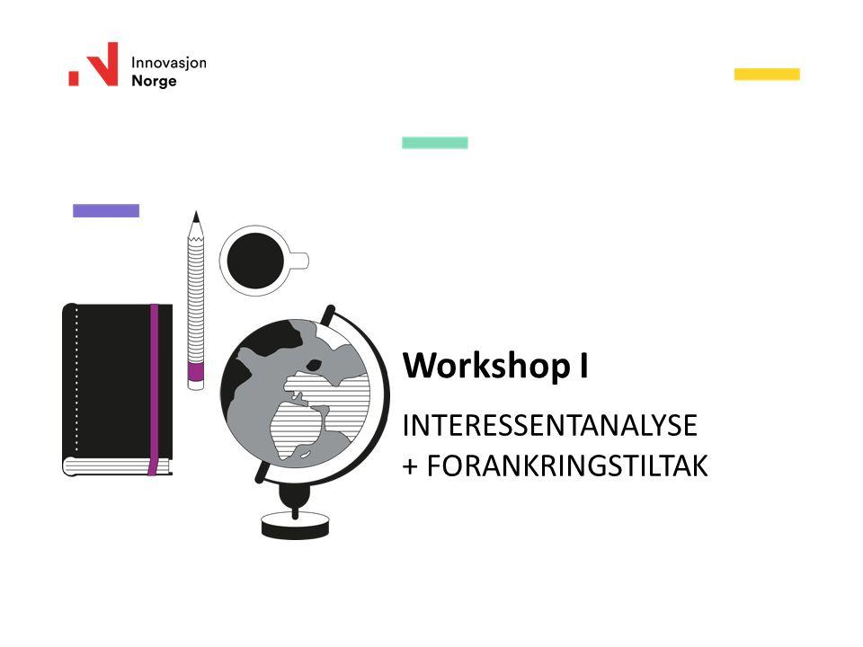 Workshop I INTERESSENTANALYSE + FORANKRINGSTILTAK