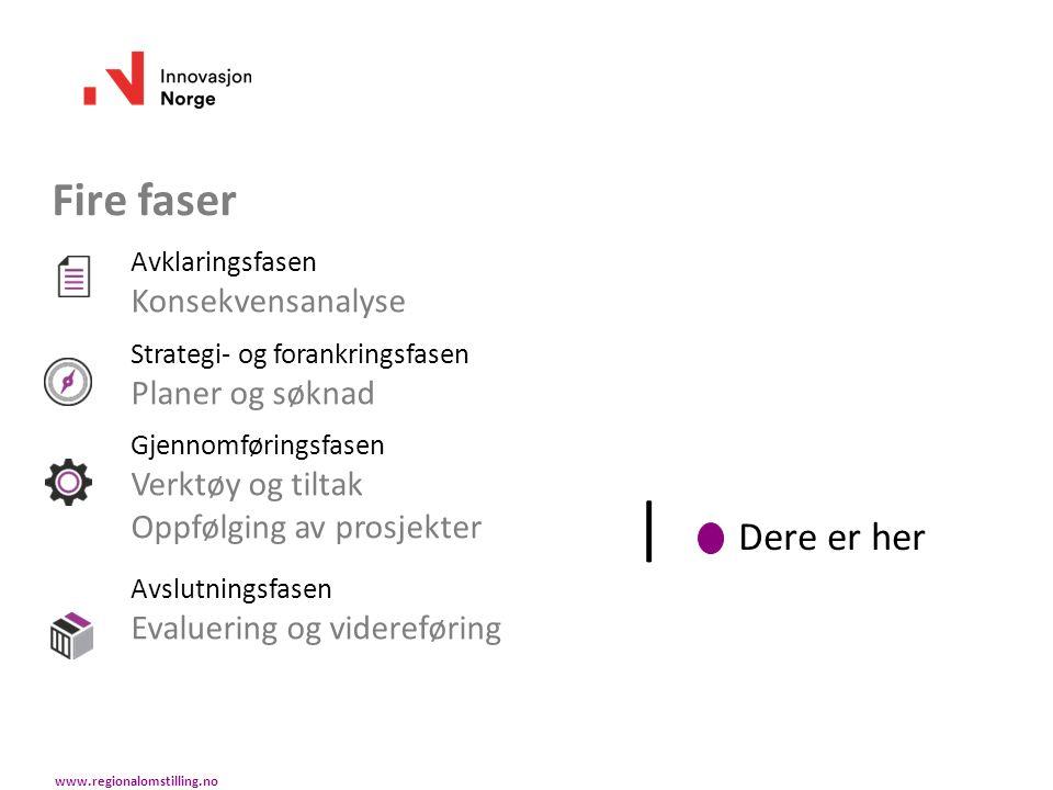 Innovasjon Norge Bistår kommunen (rådgivning) Bistår prosjektorganisasjonen (rådgivning) Gir PLP-opplæring Holder Startkurs Gir uttalelse på søknad til fylkeskommunen www.regionalomstilling.no