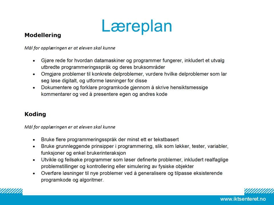 www.iktsenteret.no Læreplan