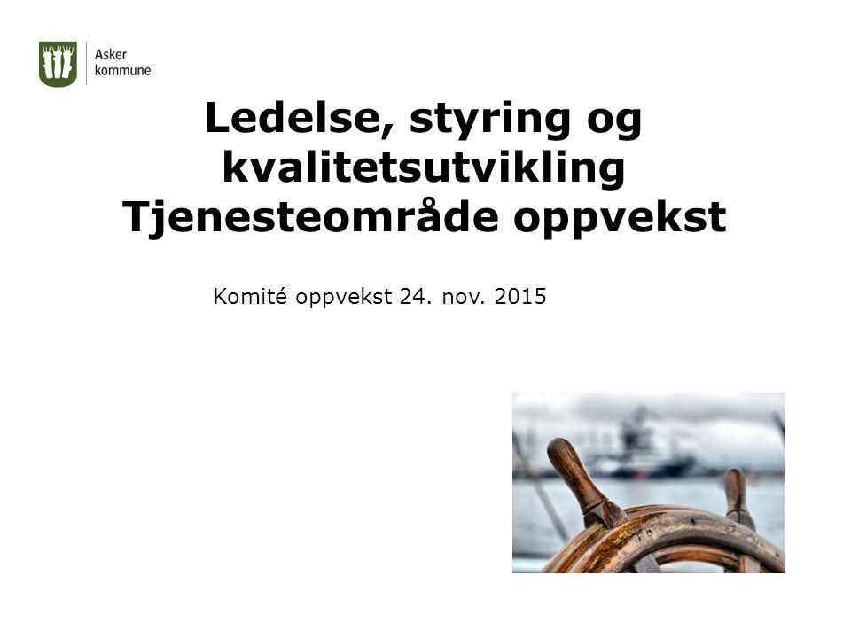 Ledelse, styring og kvalitetsutvikling Tjenesteområde oppvekst Komité oppvekst 24. nov. 2015