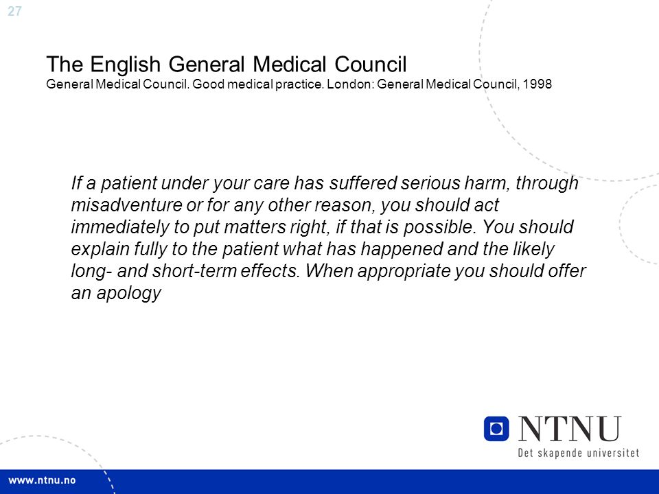 27 The English General Medical Council General Medical Council.