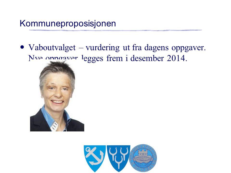 Kommuneproposisjonen Vaboutvalget – vurdering ut fra dagens oppgaver. Nye oppgaver legges frem i desember 2014.