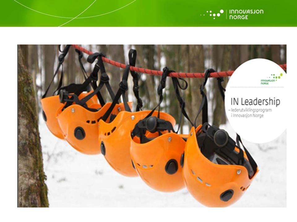 IN Leadership + «on the job training» Et allerede eksisterende lederutviklingsprogram 4 x 2 dager Integrert med «hverdagen» Del av «IN 2.0»