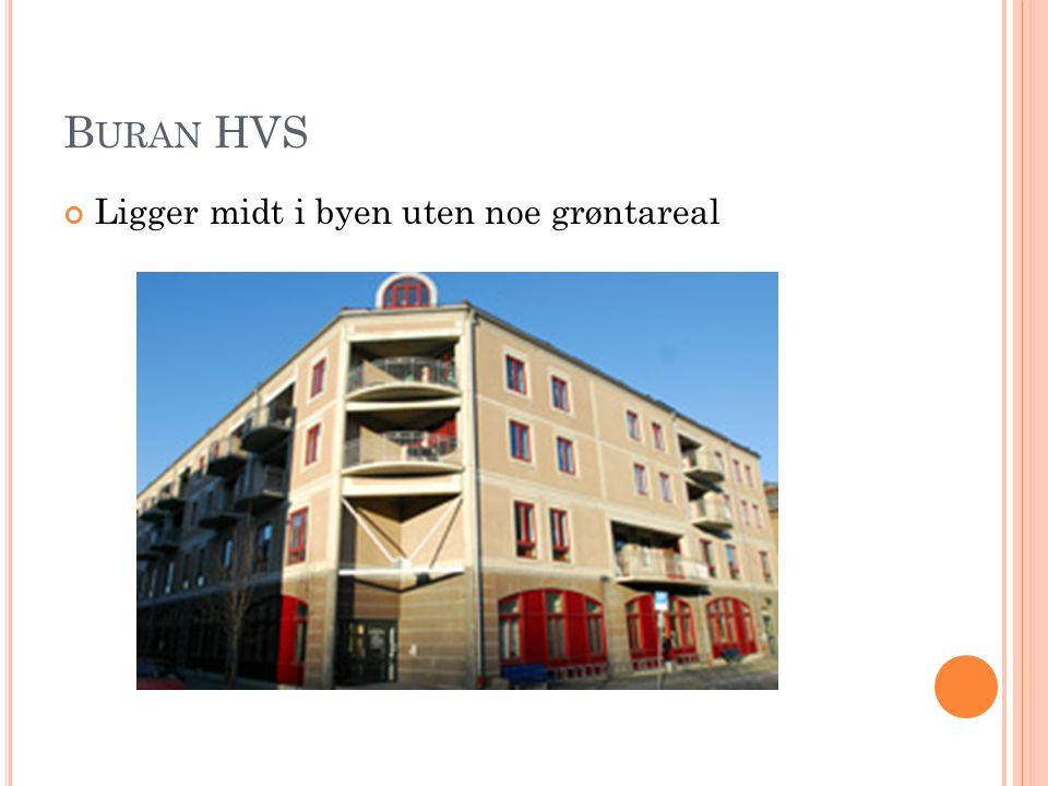 B URAN HVS Ligger midt i byen uten noe grøntareal