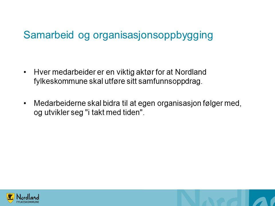 Læringsprosesser Nordland fylkeskommune er en kunnskapsorganisasjon som setter krav til høy faglighet og interesse for fagutvikling hos sine medarbeidere.