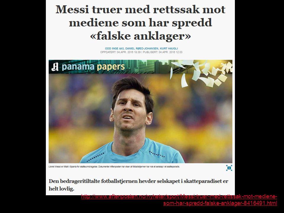 http://www.aftenposten.no/nyheter/sport/Messi-truer-med-rettssak-mot-mediene- som-har-spredd-falske-anklager-8416491.html