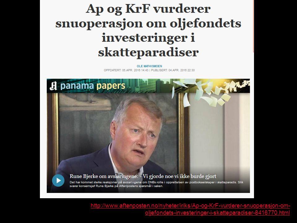http://www.aftenposten.no/nyheter/iriks/Ap-og-KrF-vurderer-snuoperasjon-om- oljefondets-investeringer-i-skatteparadiser-8416770.html