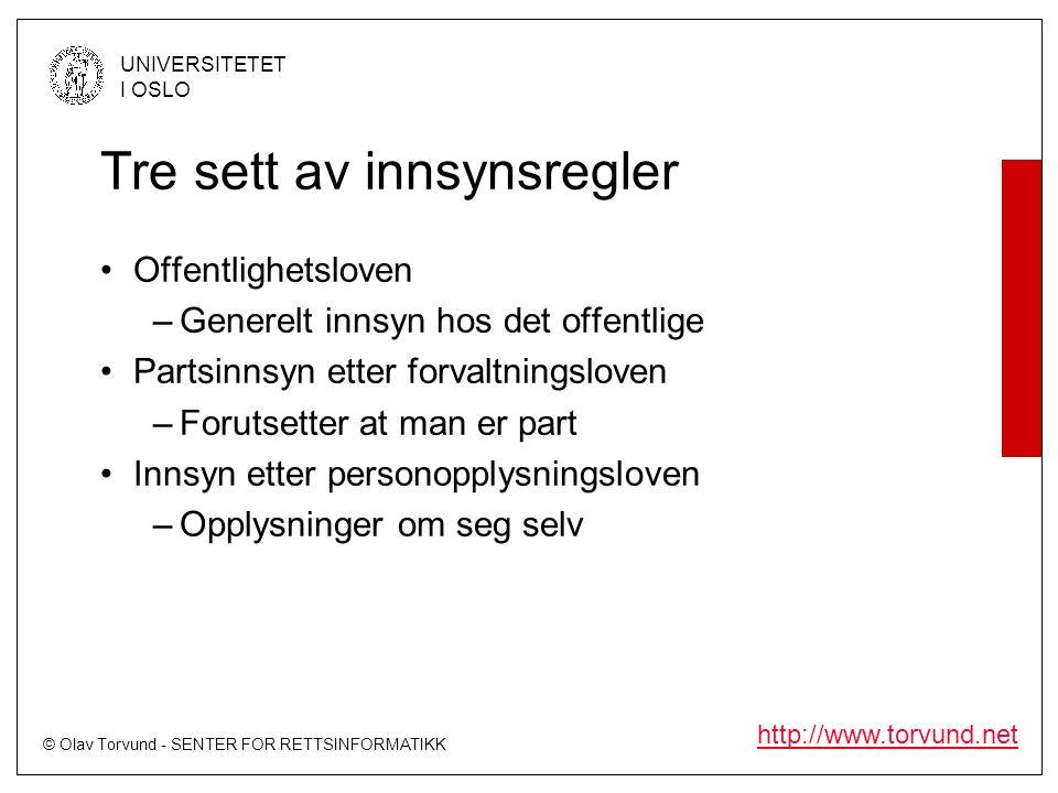 © Olav Torvund - SENTER FOR RETTSINFORMATIKK UNIVERSITETET I OSLO http://www.torvund.net Kobling mot redaktøransvar Redaktøren er ansvarlig for det som står i publikasjonen