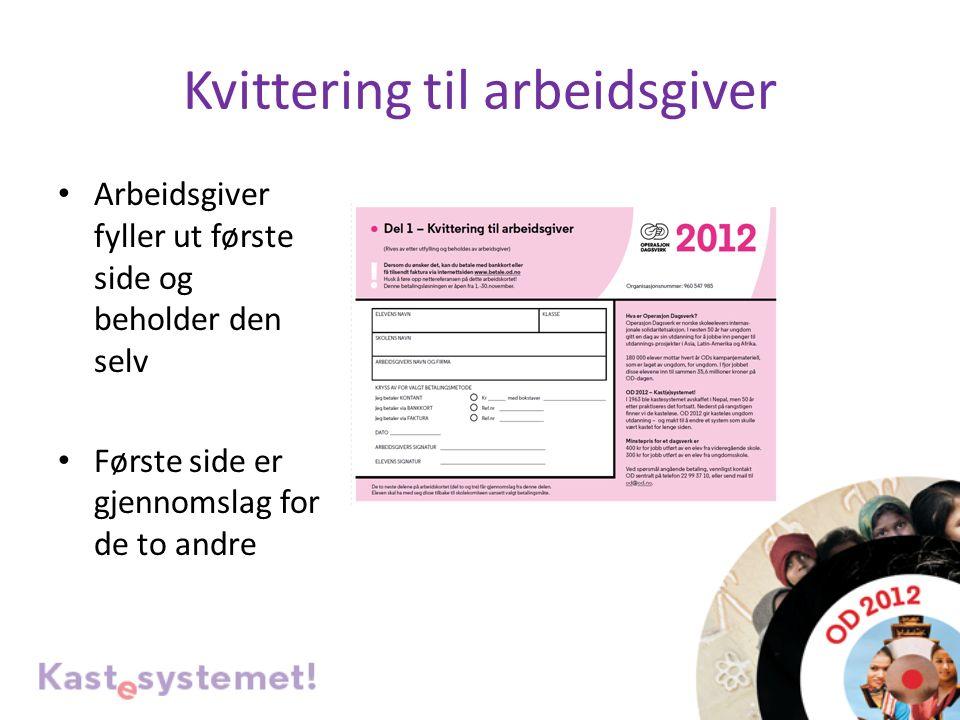 Kvittering til eleven Ta imot penger SK signerer den blå kvitteringen som er elevens bevis på å ha levert penger Signer her!