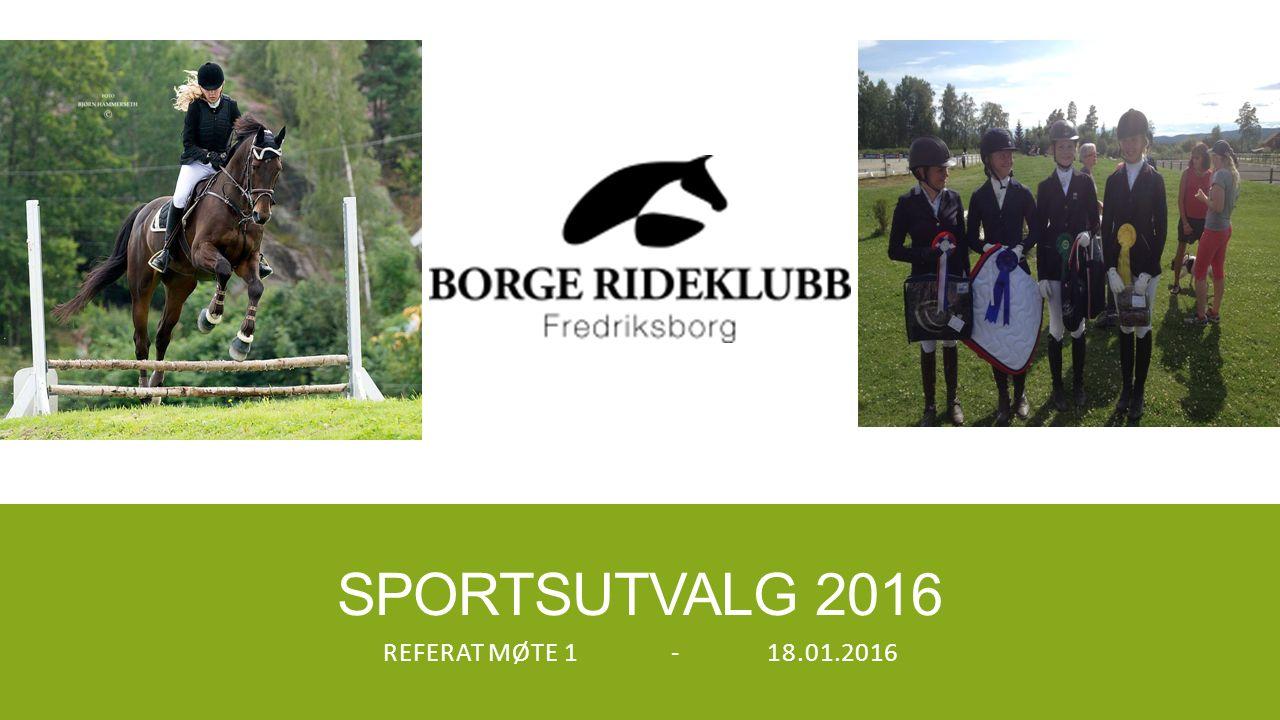 SPORTSUTVALG 2016 REFERAT MØTE 1-18.01.2016