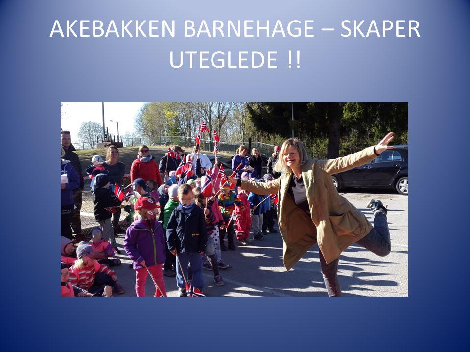 AKEBAKKEN BARNEHAGE – SKAPER UTEGLEDE !!