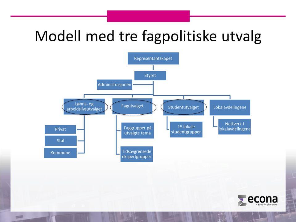 Modell med tre fagpolitiske utvalg