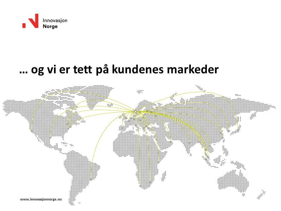 www.innovasjonnorge.no … og vi er tett på kundenes markeder