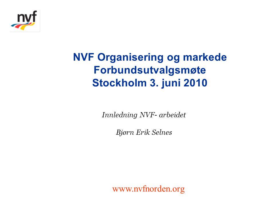 Innledning NVF- arbeidet Bjørn Erik Selnes NVF Organisering og markede Forbundsutvalgsmøte Stockholm 3.