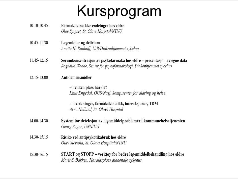 25 Kursprogram