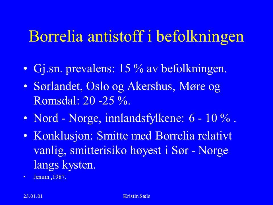 23.01.01Kristin Sæle Borrelia antistoff i befolkningen Gj.sn.