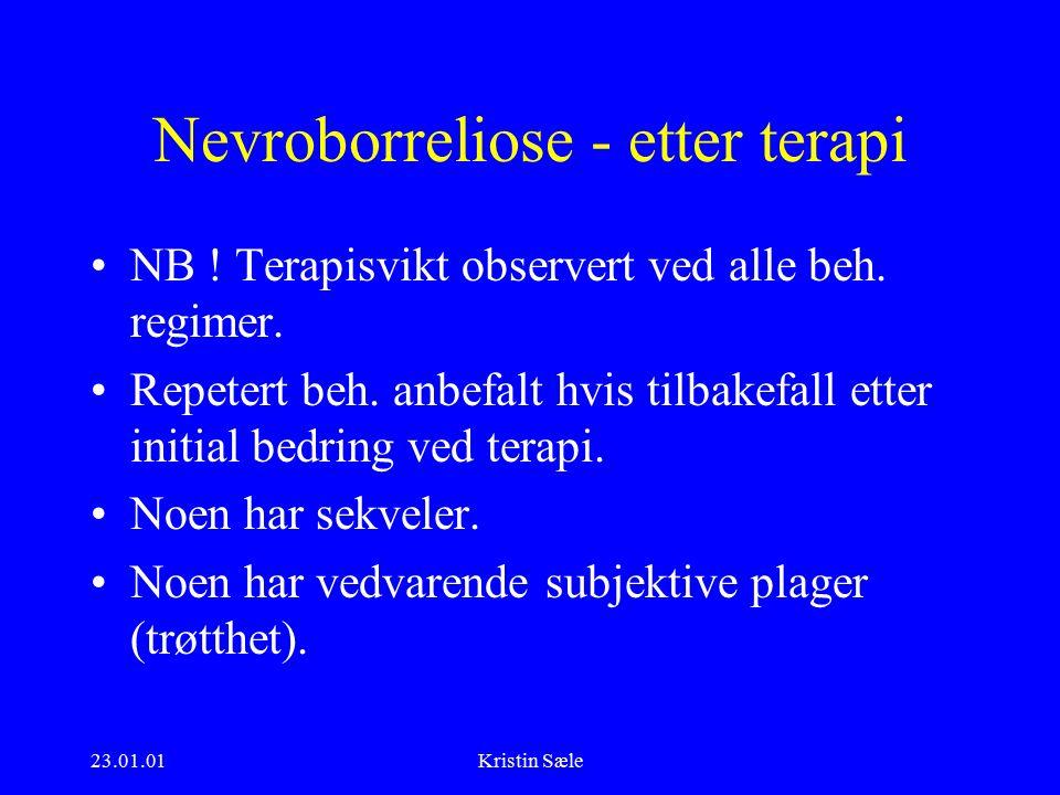 23.01.01Kristin Sæle Nevroborreliose - etter terapi NB .