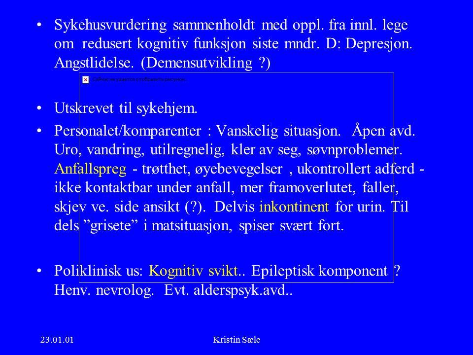23.01.01Kristin Sæle Sykehusvurdering sammenholdt med oppl.
