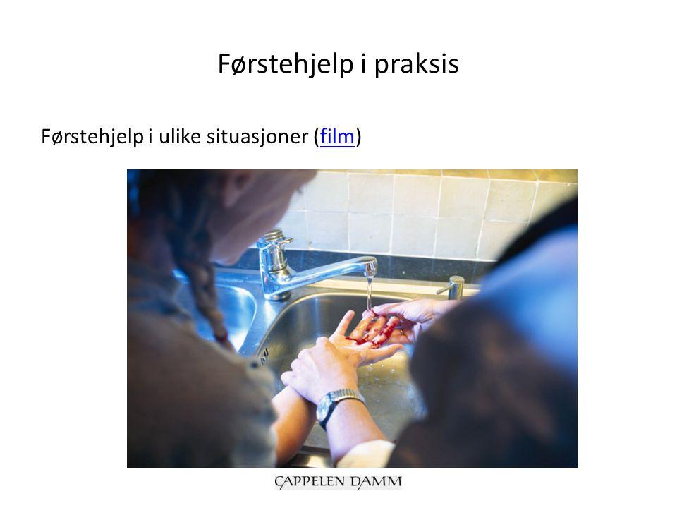 Førstehjelp i praksis Førstehjelp i ulike situasjoner (film)film