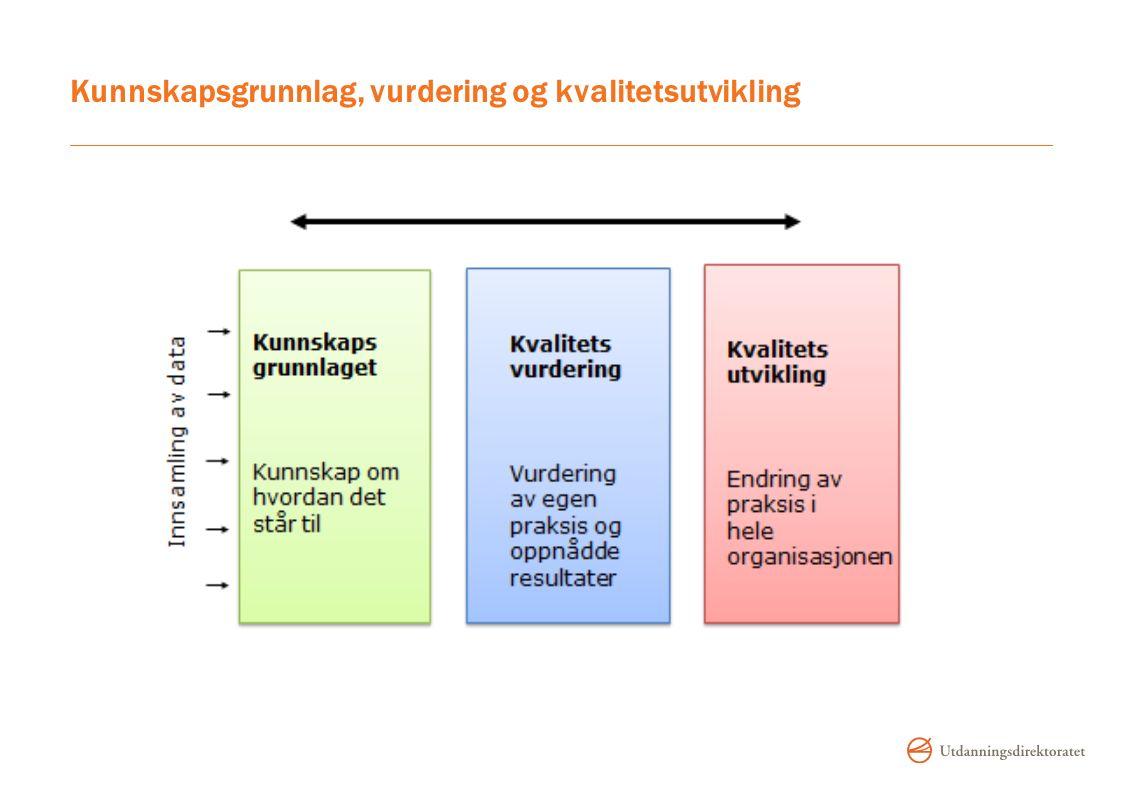 Kunnskapsgrunnlag, vurdering og kvalitetsutvikling